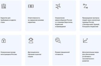 Меры борьбы с коронавирусом в России