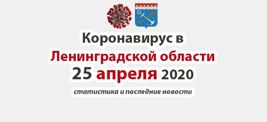 Коронавирус в Ленинградской области 25 апреля 2020