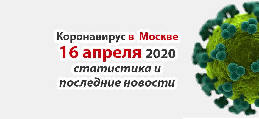 Коронавирус в Москве на 16 апреля 2020 года
