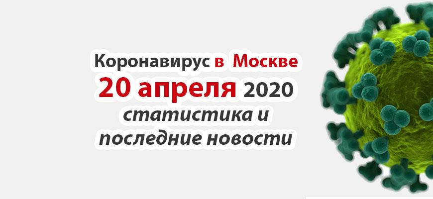 Коронавирус в Москве на 20 апреля 2020 года