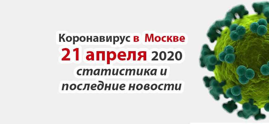 Коронавирус в Москве на 21 апреля 2020 года