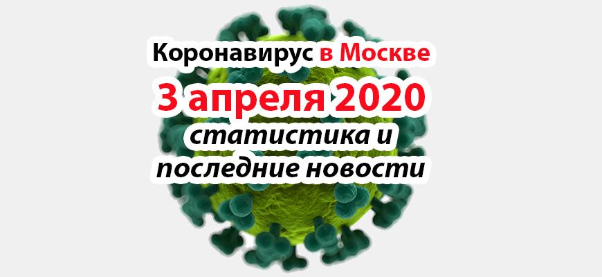 Коронавирус в Москве на 3 апреля 2020 года