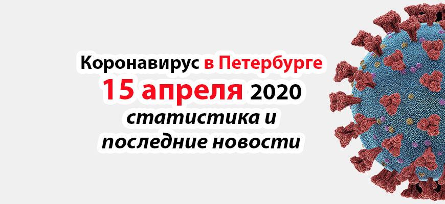 Коронавирус в Петербурге на 15 апреля 2020 года
