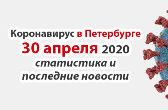 Коронавирус в Петербурге на 30 апреля 2020 года