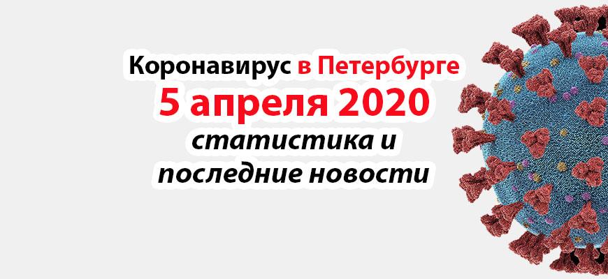 Коронавирус в Петербурге на 5 апреля 2020 года