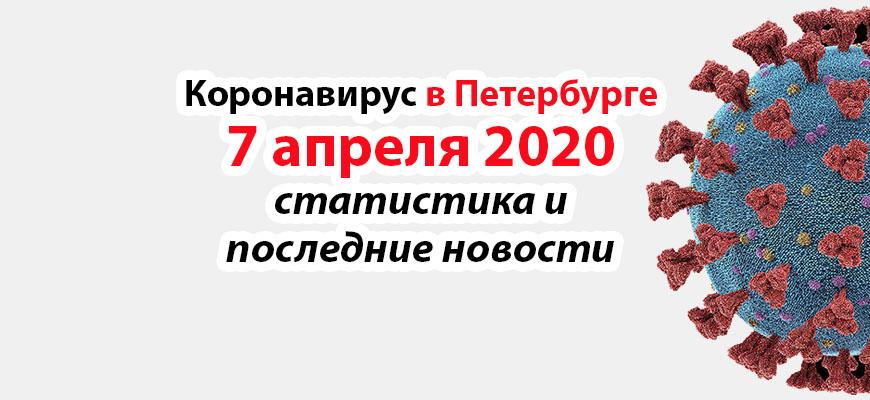 Коронавирус в Петербурге на 7 апреля 2020 года