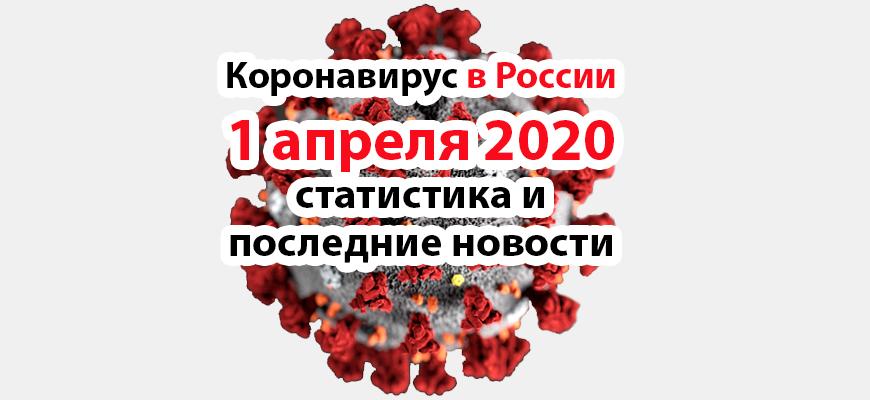 Коронавирус в России на 1 апреля 2020 года