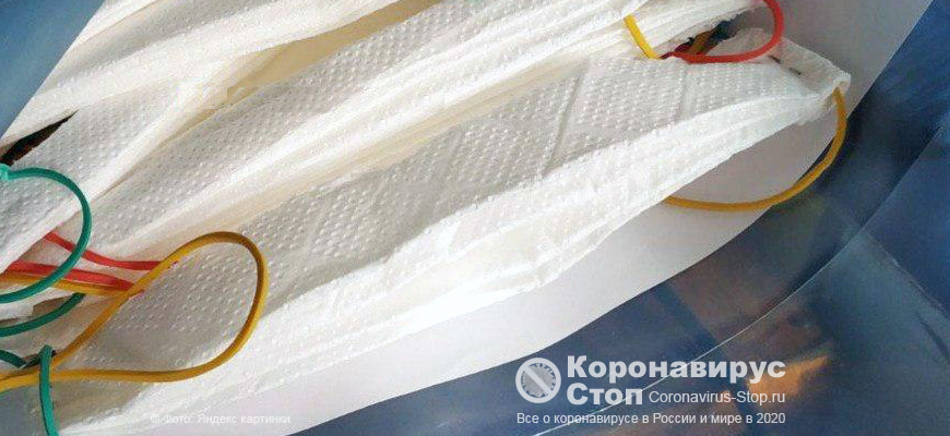 Маски от коронавируса из туалетной бумаги