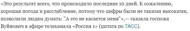 В ВОЗ объяснили причину сильного роста заразившихся в Москве коронавирусом