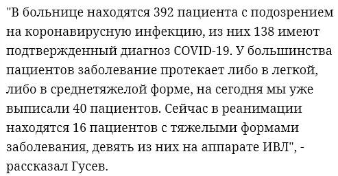 В Петербурге 16 человек с коронавирусом лежат в реанимации