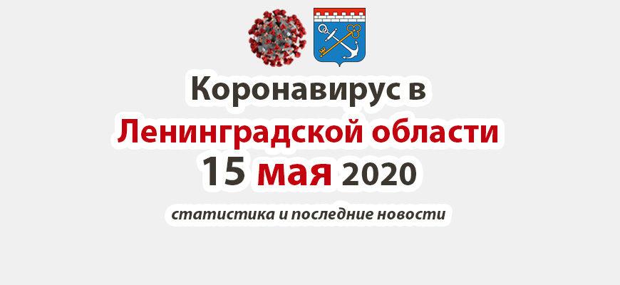 Коронавирус в Ленинградской области 15 мая 2020