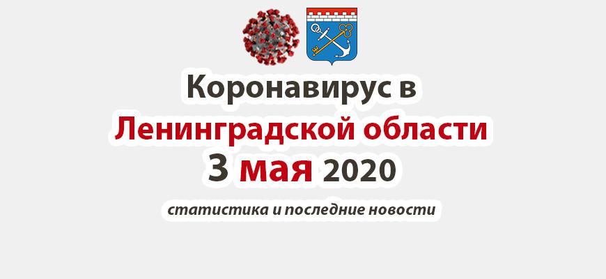 Коронавирус в Ленинградской области 3 мая 2020