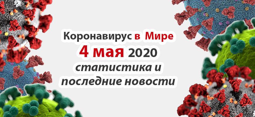 Коронавирус COVID-19 в мире статистика на 4 мая 2020