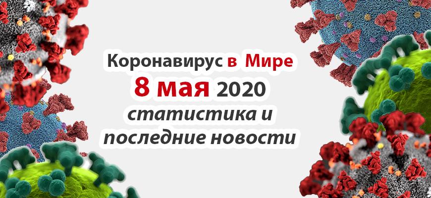 Коронавирус COVID-19 в мире статистика на 8 мая 2020