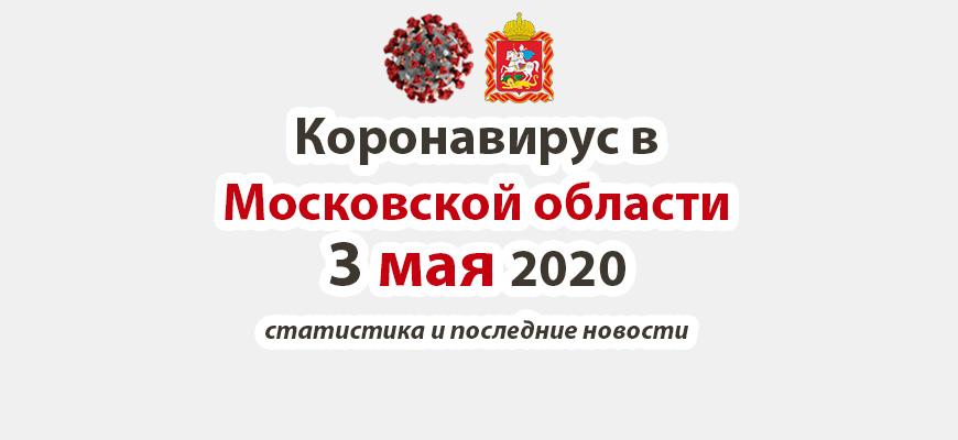Коронавирус в Московской области на 3 мая 2020 года