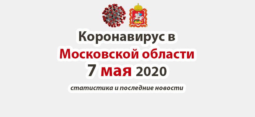 Коронавирус в Московской области на 7 мая 2020 года