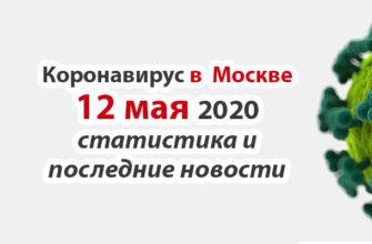 Коронавирус в Москве на 12 мая 2020 года