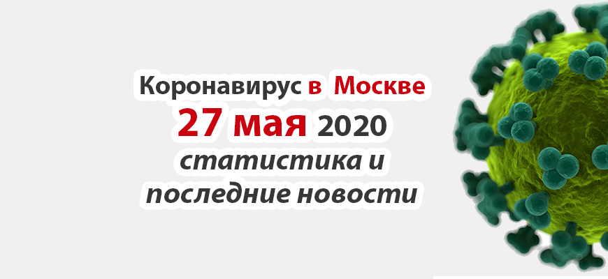Коронавирус в Москве на 27 мая 2020 года