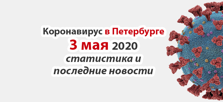 Коронавирус в Петербурге на 3 мая 2020 года