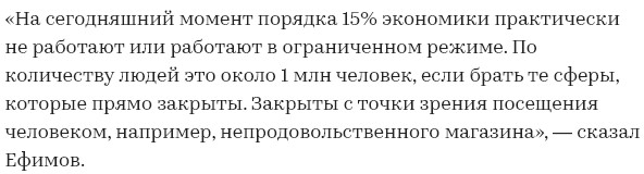 1 000 000 человек и 15% предприятий не работают в Москве из-за пандемии коронавируса