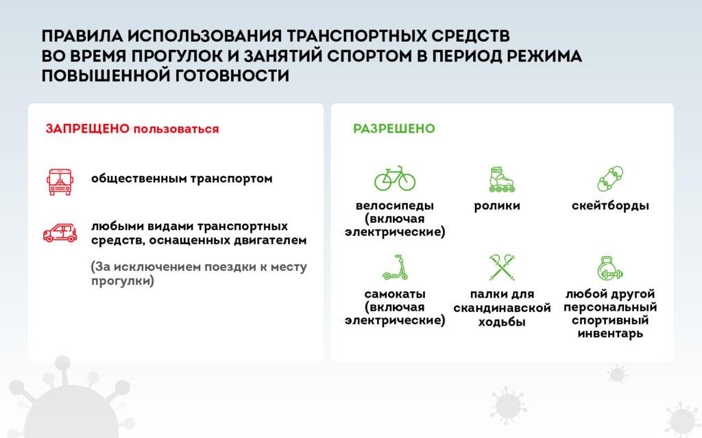 Правила использования транспортных средств во время прогулок и занятия спортом