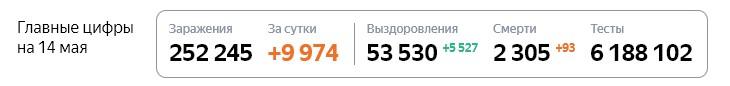 Статистика стопкоронавирус рф на 14 мая