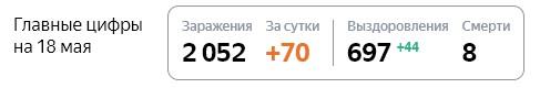 Статистика стопкоронавирус.рф в Ленобласти на 18 мая: сколько заболело, выздоровело, умерло с коронавирусом человек