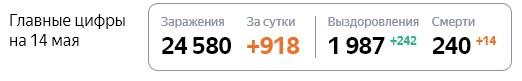 Статистика стопкоронавирус рф по Московской области на 14 мая