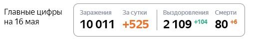 Статистика стопкоронавирус рф по Петербурге на 16 мая