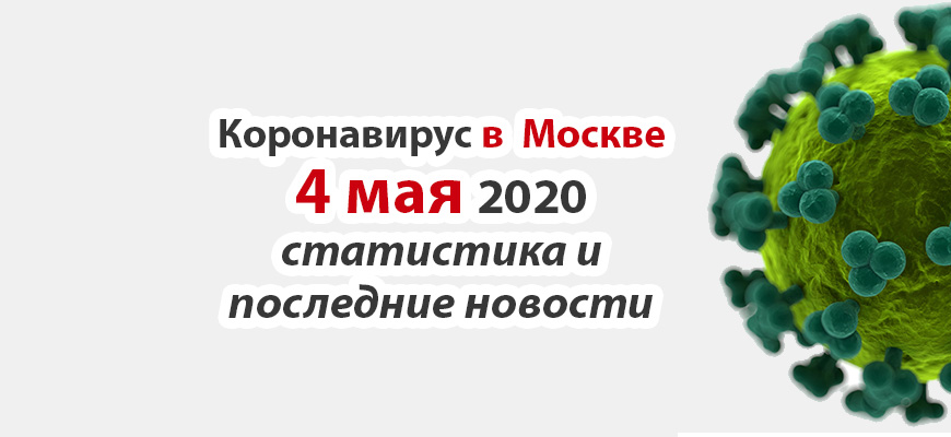 Коронавирус в Москве на 4 мая 2020 года