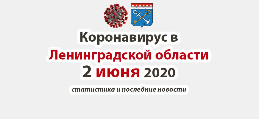 Коронавирус в Ленинградской области 2 июня 2020