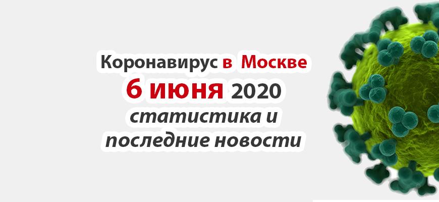 Коронавирус в Москве на 6 июня 2020 года