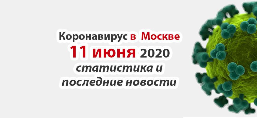 Коронавирус в Москве на 11 июня 2020 года