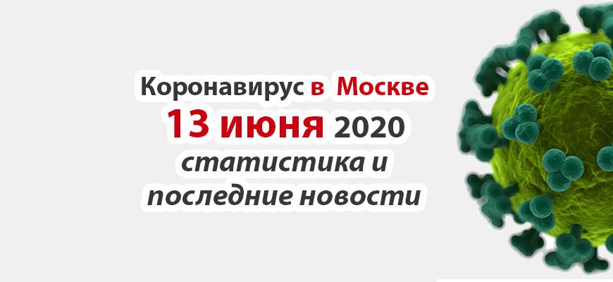 Коронавирус в Москве на 13 июня 2020 года