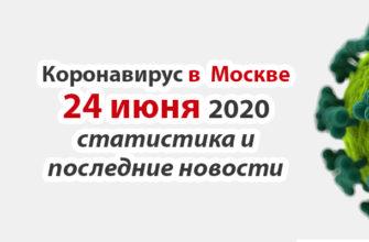Коронавирус в Москве на 24 июня 2020 года