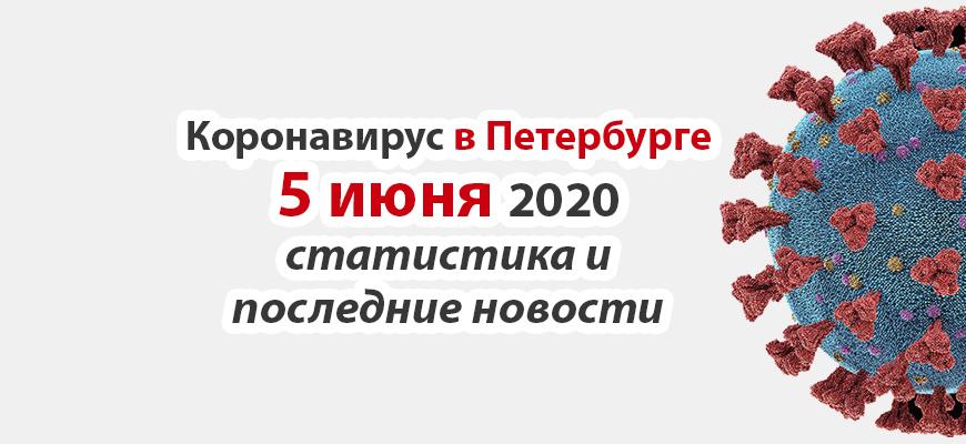Коронавирус в Санкт-Петербурге на 5 июня 2020 года