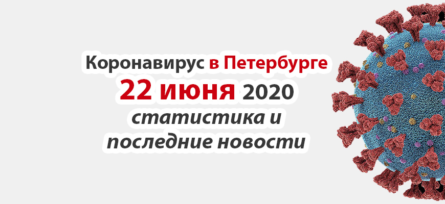 Коронавирус в Санкт-Петербурге на 22 июня 2020 года