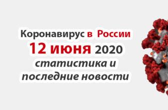 Коронавирус в России на 12 июня 2020 года