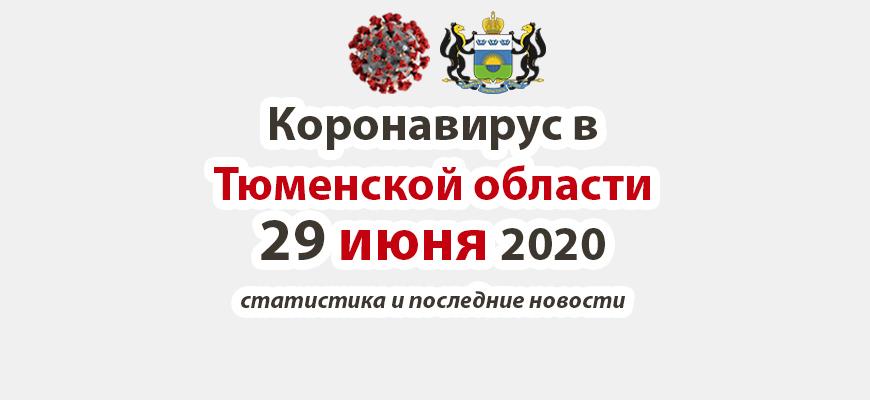 Коронавирус в Тюменской области 29 июня 2020