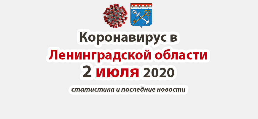 Коронавирус в Ленинградской области 2 июля 2020