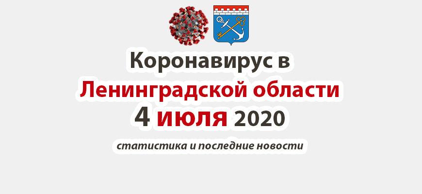 Коронавирус в Ленинградской области 4 июля 2020