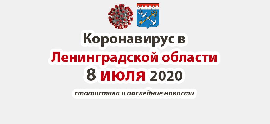 Коронавирус в Ленинградской области 8 июля 2020