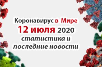 Коронавирус COVID-19 в мире статистика на 12 июля 2020