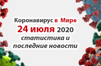 Коронавирус COVID-19 в мире статистика на 24 июля 2020