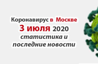Коронавирус в Москве на 3 июля 2020 года