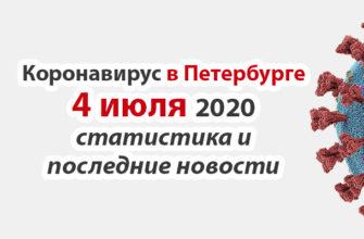 Коронавирус в Санкт-Петербурге на 4 июля 2020 года