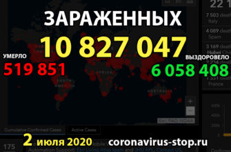 Статистика коронавируса 2 июля 2020