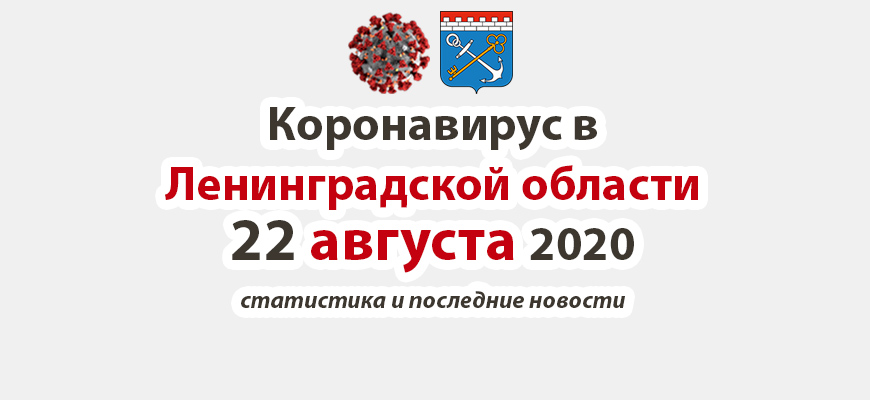 Коронавирус в Ленинградской области 22 августа 2020