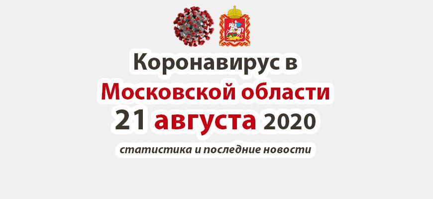 Коронавирус в Московской области на 21 августа 2020 года