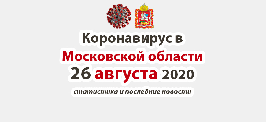 Коронавирус в Московской области на 26 августа 2020 года